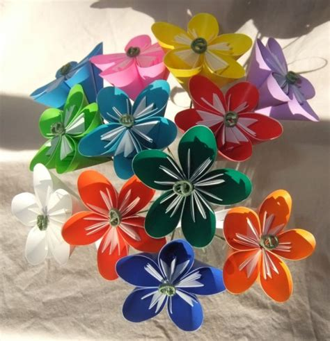 Make Origami Flower Bouquet - rainbow origami flower bouquet aftcra