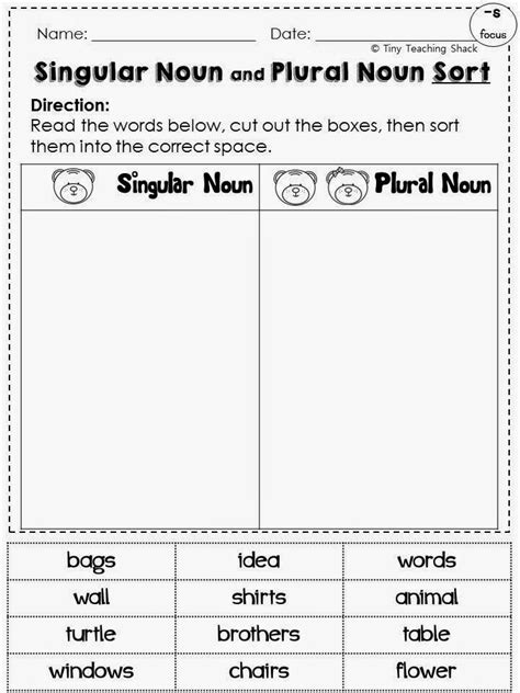 S Or Es Worksheet by 27 Best Nouns P1 Images On
