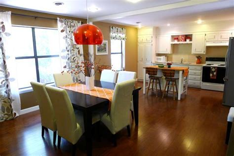 kitchen and dining room together