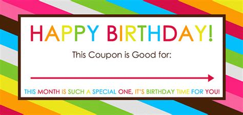 printable birthday coupon template free printable birthday coupons overstuffed
