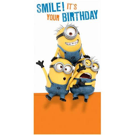 Minion Birthday Cards Smile Its Your Birthday Minions Money Gift Wallet Card