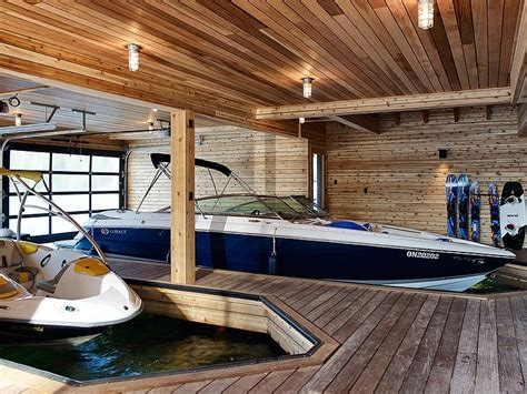 a house for storing boats floating cabin with integrated boathouse modern house designs