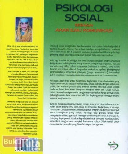 Buku Akar bukukita ikologi sosial sebagai akar ilmu komunikasi