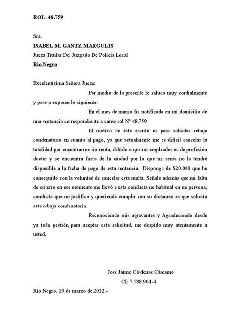 carta formal juzgado carta jueza rebaja