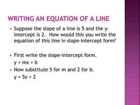 ppt 5 1 writing linear equations in slope intercept form