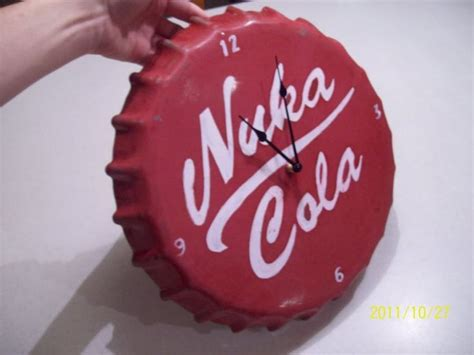 diy giant nuka cola bottle cap clock inspiration only no