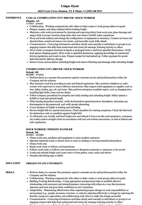 dock worker resume resume ideas