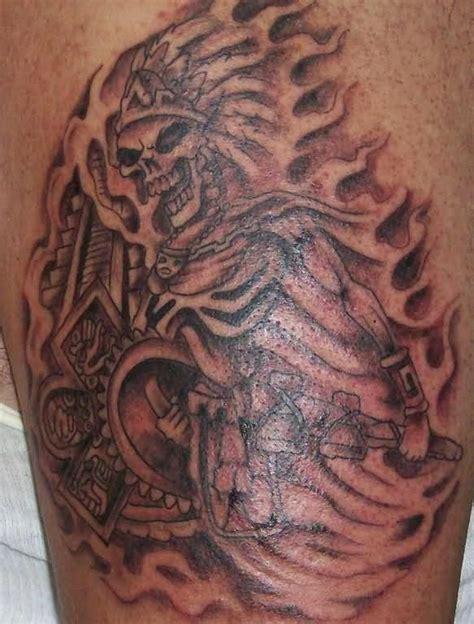 aztec warrior skull tattoo designs aztec skull www hoggifts