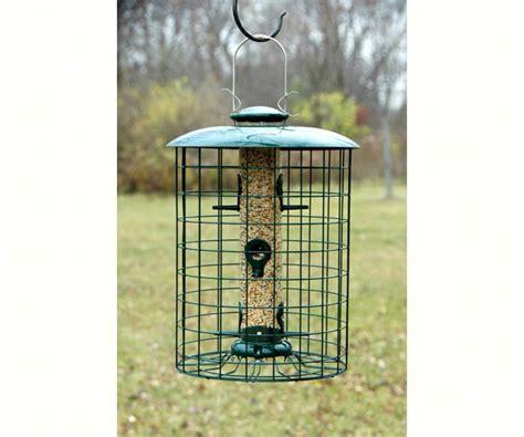backyard chirper woodlink caged seed 6 port tube bird feeder
