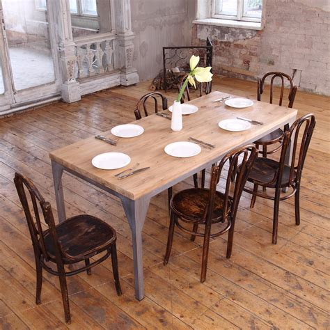 industrial dining tables industrial style contemporary dining table by cosywood