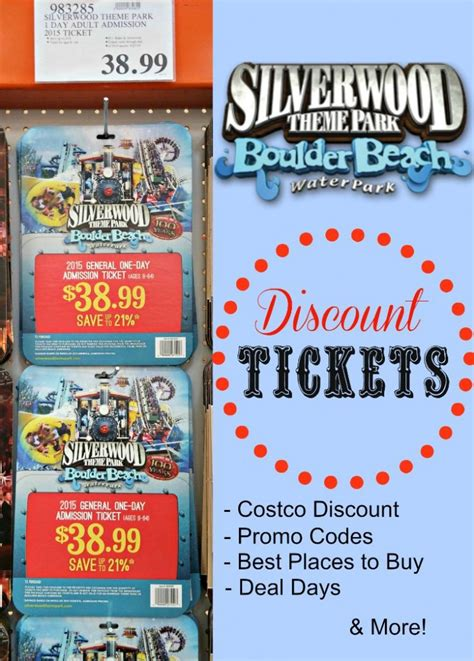 theme park tickets silverwood theme park discount coupons pictures to pin on
