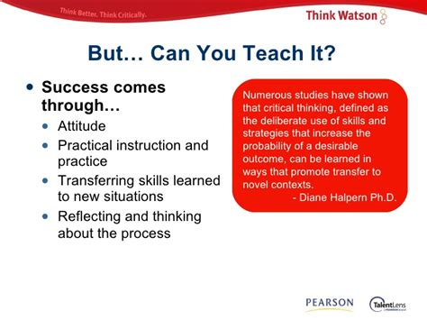 critical thinking skills and strategies for success and smarter decisions books critical thinking strategies for success