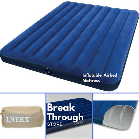 inflatable airbed air mattress queen size portable blow