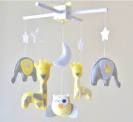 Crib Mobiles For Babies by Baby Mobile Elephant Giraffe Owl By Lovefelt Creations