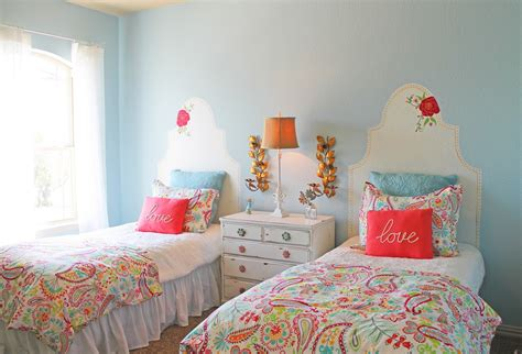 twin girls bedroom the ragged wren alamo ranch model