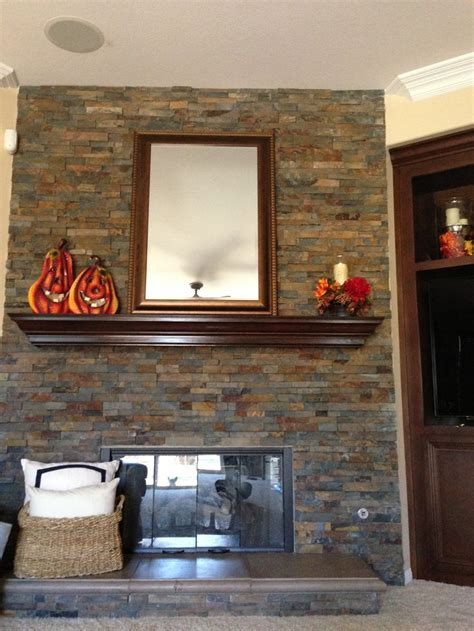 fall stacked stone fireplace fireplace ideas pinterest