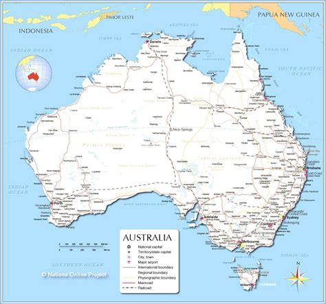 map of australia with territories map of australia states and territories planetware in with