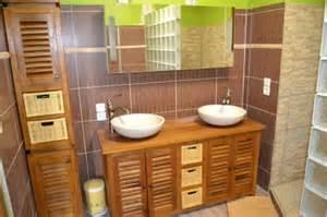 meuble salle de bain bois mzaol