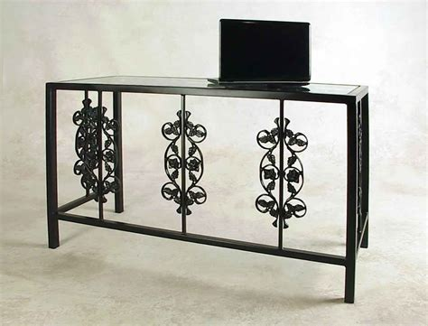 wrought iron desk wrought iron desks and vanity tables