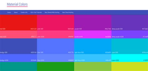 what is the best color trendy web color palettes and material design color