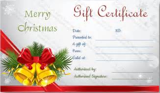 free printable christmas gift certificate templates download options for christmas bells gift certificate 5 awesome christmas gift certificate templates to end 2015