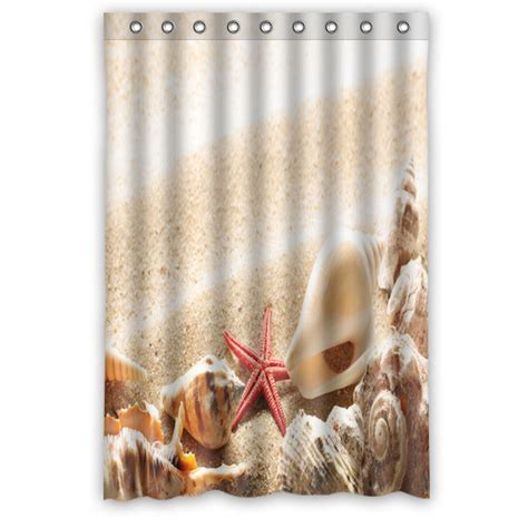 48 shower curtain custom fashion popular summer beach shells shower curtain