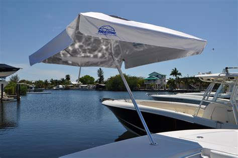 umbrella for boat rod holder hydra shade 8 square boating beach umbrella 4 piece kit