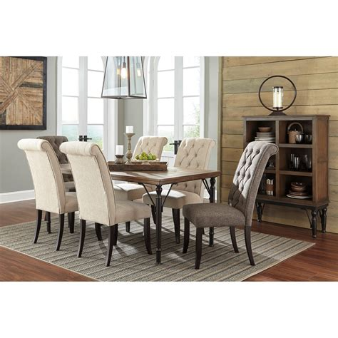 buy tripton dining room set by signature design from www signature design by ashley tripton 7 piece rectangular
