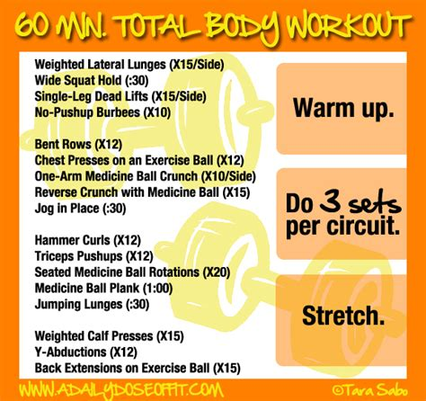 a daily dose of fit 60 minute total workout
