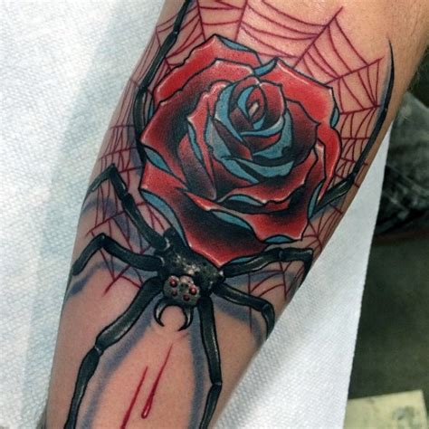 rose and spider web tattoo 80 spider web designs for tangled pattern ideas
