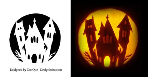 haunted house pattern for pumpkin carving 5 easy yet simple halloween pumpkin carving patterns