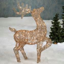 outdoor lighted reindeer decoration 26 charming reindeer decoration ideas godfather style