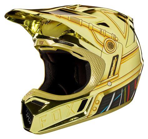 fox helmet motocross fox racing v3 c3po le helmet revzilla