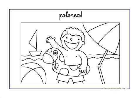 dibujos infantiles para colorear del verano el verano dibujos para colorear