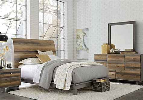 handly manor pecan 5 pc king panel bedroom bedroom sets king size bedroom sets suites for sale