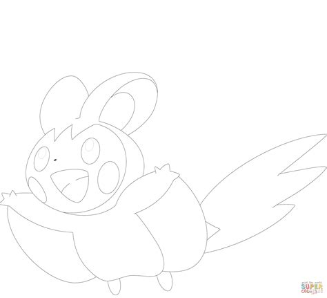 pokemon coloring pages emolga emolga coloring page free printable coloring pages