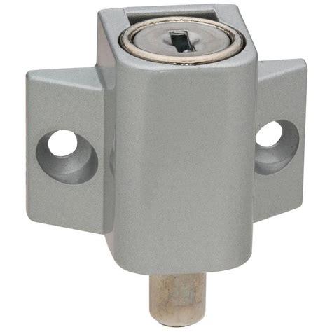 National Hardware Aluminum Keyed Patio Door Lock Vka815 Home Depot Patio Door Lock