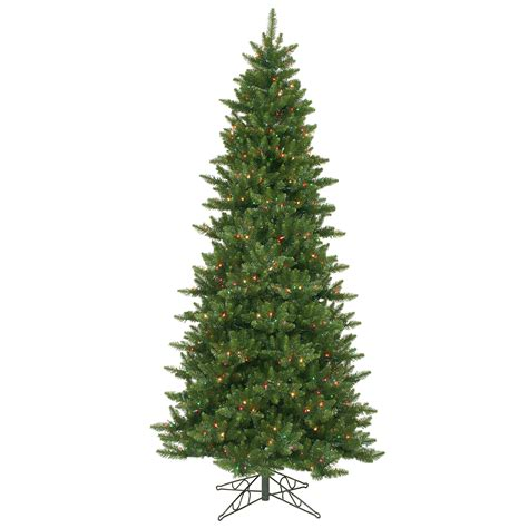vickerman 8 5 camdon fir slim tree with 800 multi lights