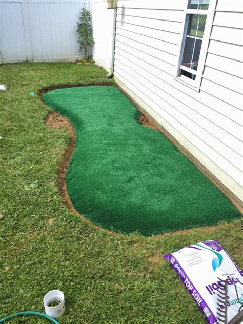 How To Build A Backyard Putting Green by Bit Funky How To Make A Backyard Putting Green