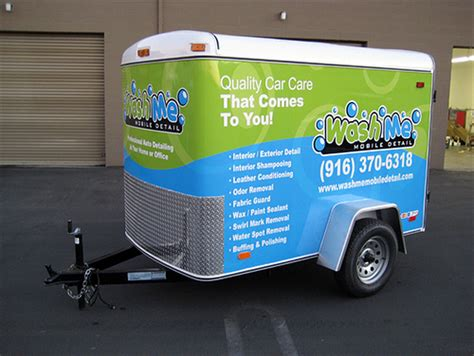 Wash Me Mobile Detail Auto Detailing Trailer   Automotive