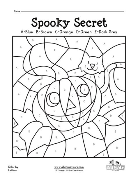 halloween alphabet coloring pages halloween color by letters