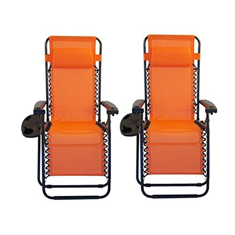 Zero Gravity Chair 2 Pack by Sundale Outdoor Zero Gravity Recliner Chairs 2 Pack With