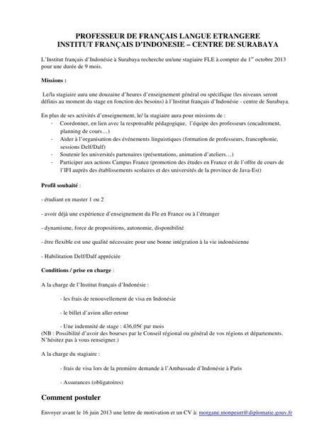 Lettre De Motivation De Demande De Visa Modele Lettre Motivation Ambassade