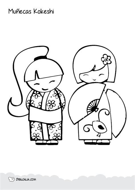 imagenes japonesas para imprimir cuadernillo mu 241 ecas kokeshi para colorear dibujalia blog