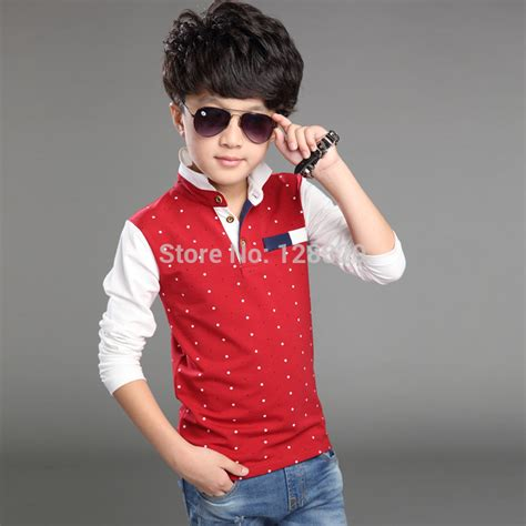 Cotton Casual Shirt Black Dots Size 1t 2t 3t 4t T Shirt For Boys Autumn Cotton Casual Children Clothing