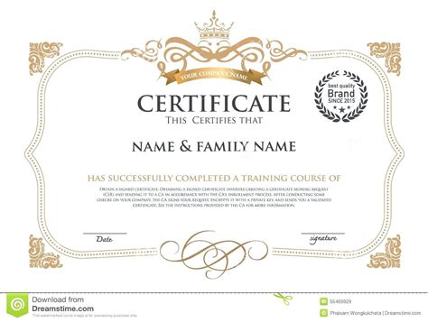 certificate template ai certificate template illustrator image collections