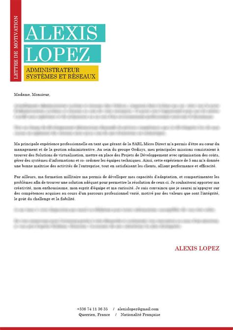 Exemple De Lettre De Motivation Originale mod 232 le de lettre de motivation lettre de motivation
