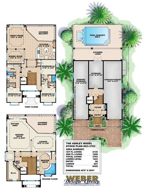 home design story aquadive pool three story house plans modern contemporary homes to