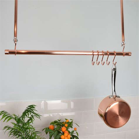 Pan Hanger Ceiling Copper Ceiling Pot And Pan Rail Rack By Proper Copper