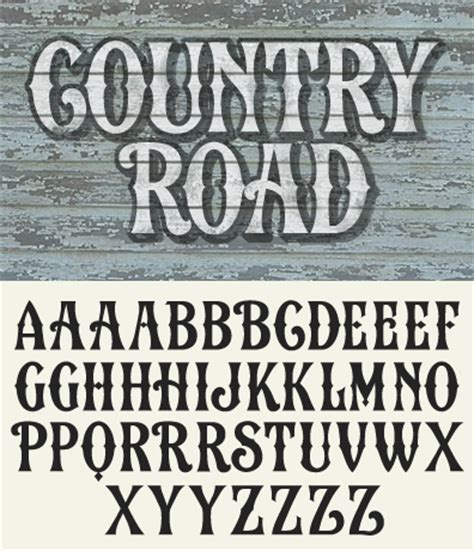 country style lettering letterhead fonts news